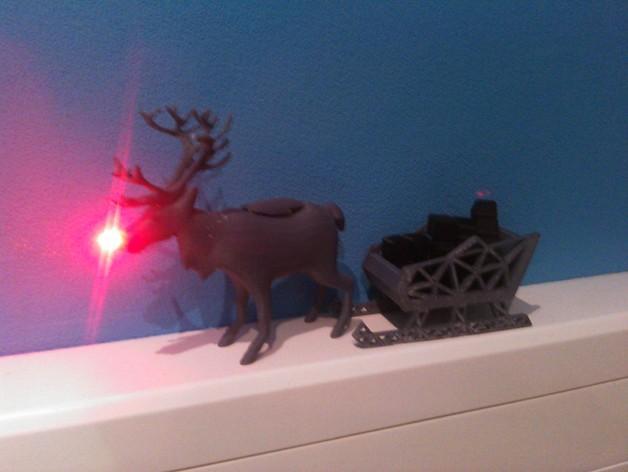 麋鹿雪橇形LED灯 3D模型  图8