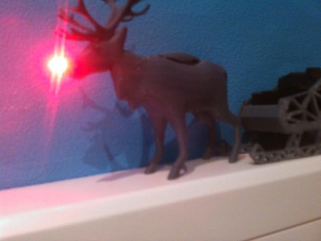 麋鹿雪橇形LED灯 3D模型  图6