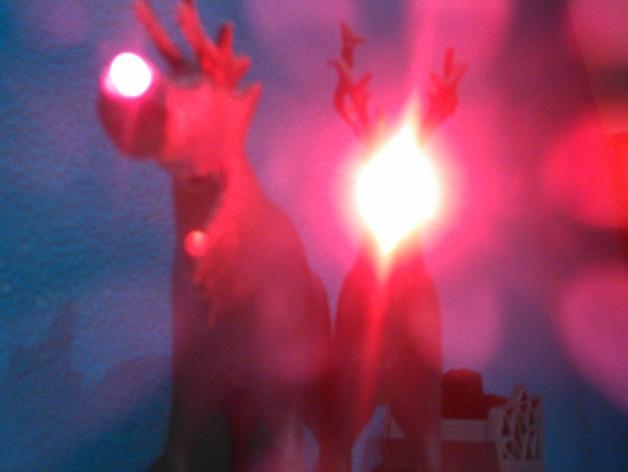 麋鹿雪橇形LED灯 3D模型  图7