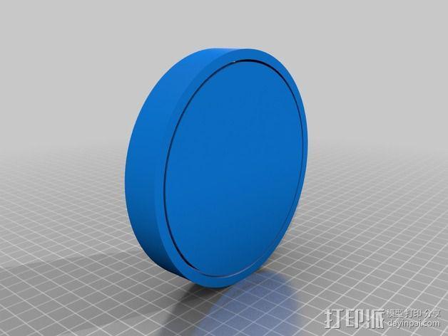 汉堡/肉饼制作模具 3D模型  图2