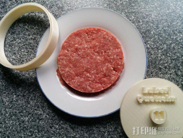 汉堡/肉饼制作模具 3D模型  图5