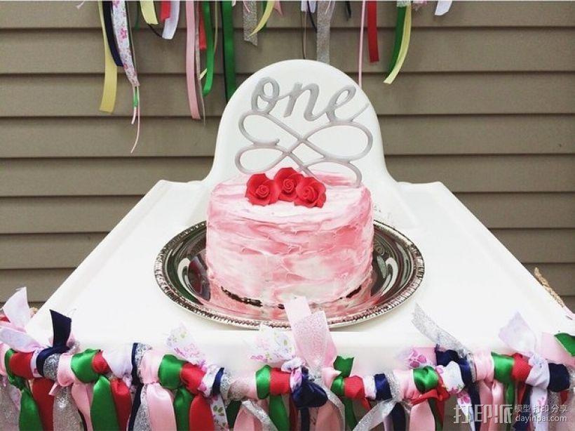 生日蛋糕装饰品 3D模型  图1