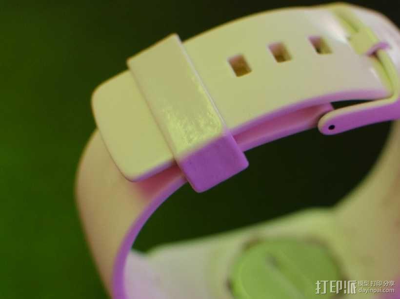 斯沃琪手表表带零部件 3D模型  图1