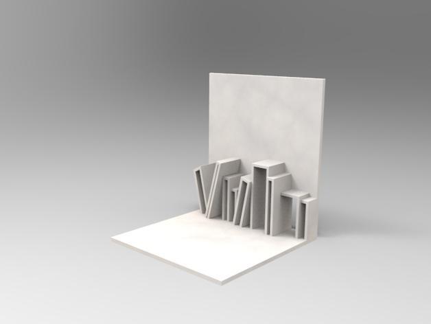迷你书立 3D模型  图1