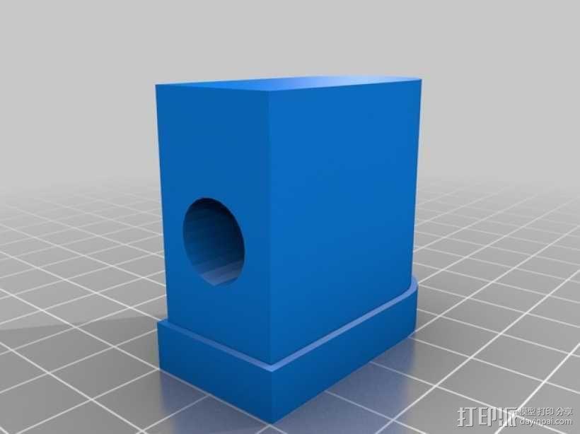宜家转椅底座零部件 3D模型  图2