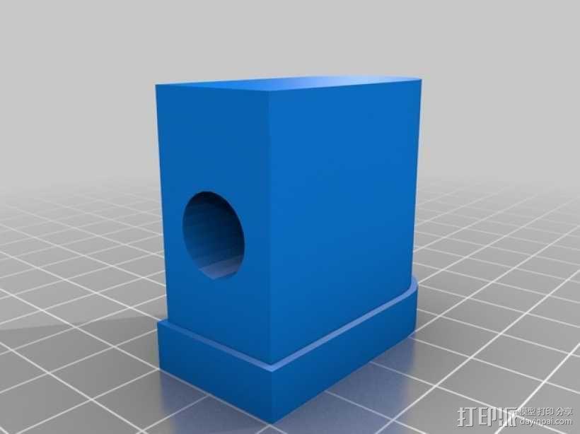 宜家转椅底座零部件 3D模型  图3