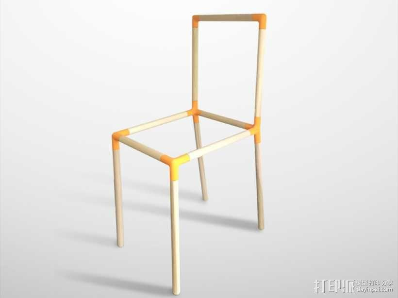 定制化儿童椅连接装置 3D模型  图1