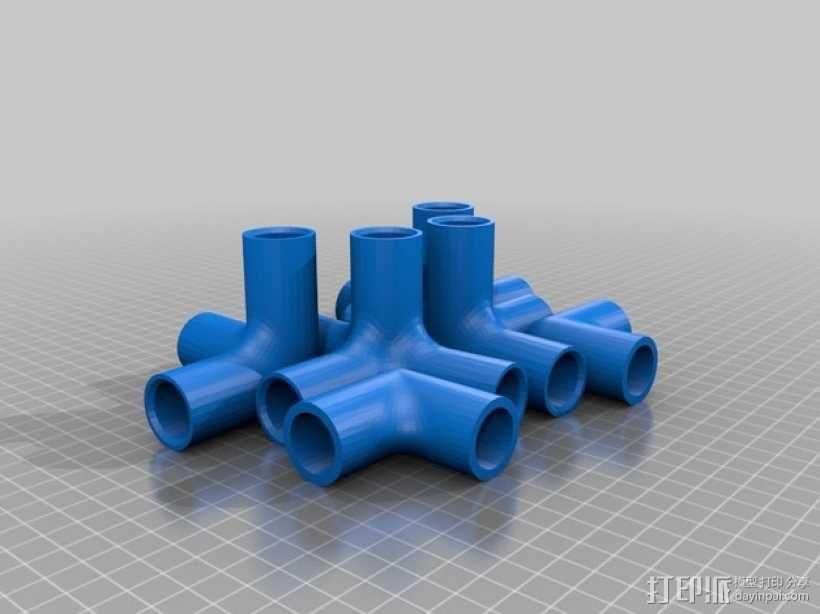 定制化儿童椅连接装置 3D模型  图4