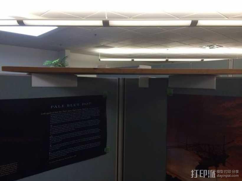 办公室隔间盆栽架 3D模型  图2
