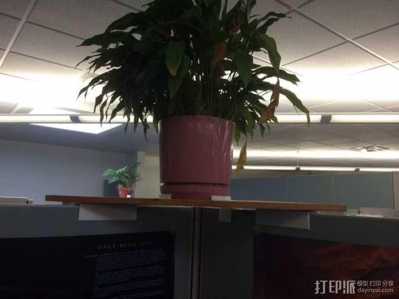 办公室隔间盆栽架 3D模型  图1
