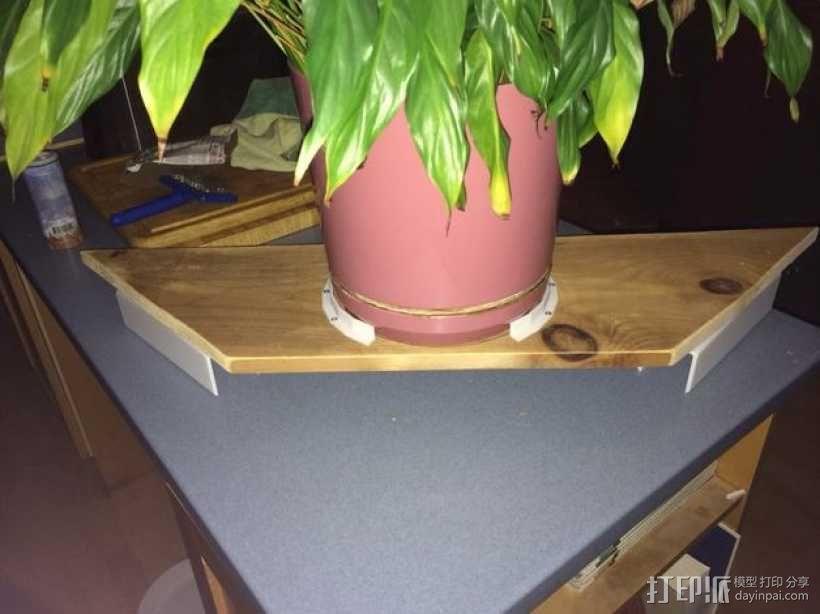 办公室隔间盆栽架 3D模型  图3