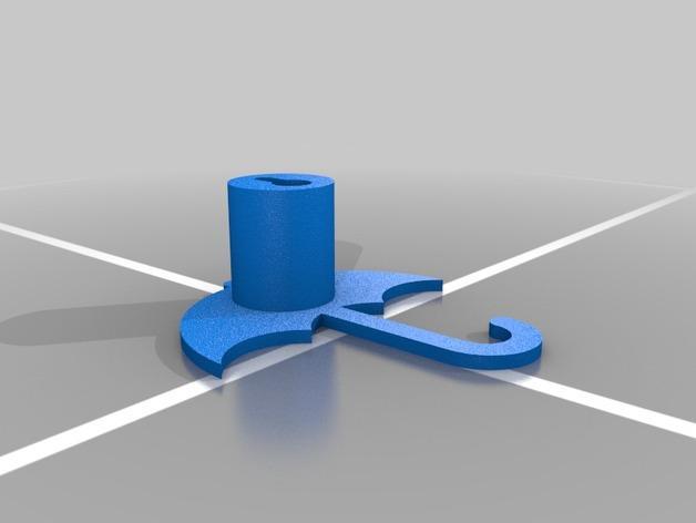 雨伞形衣服/珠宝架 3D模型  图2