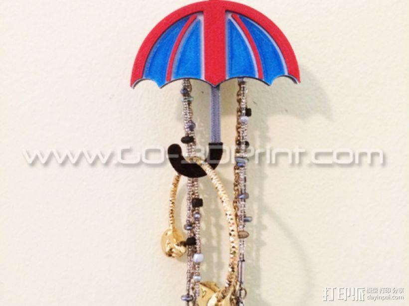 雨伞形衣服/珠宝架 3D模型  图1