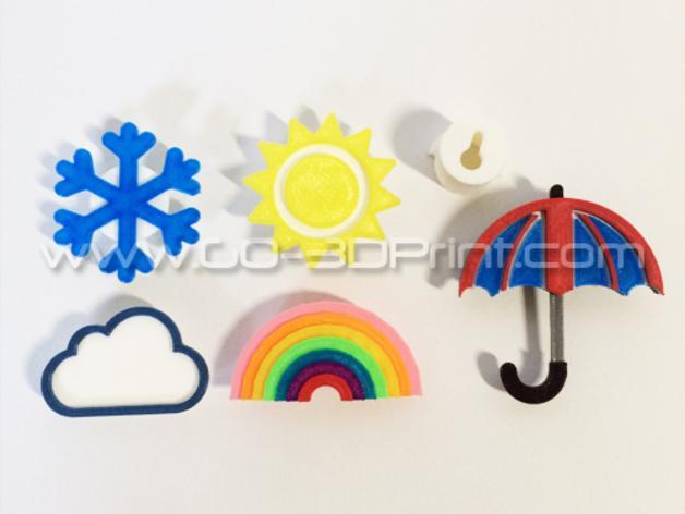 雨伞形衣服/珠宝架 3D模型  图4