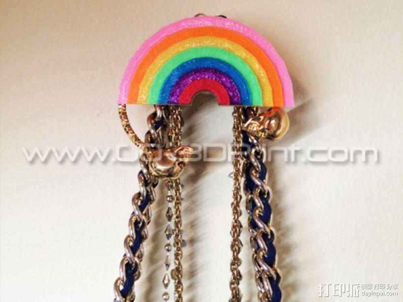 彩虹形珠宝架 3D模型  图1