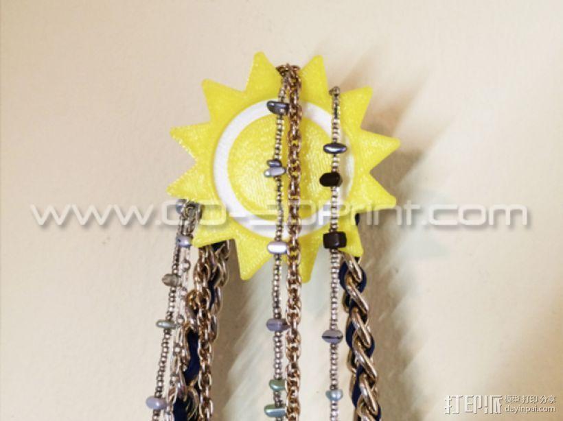 太阳形珠宝架 3D模型  图1