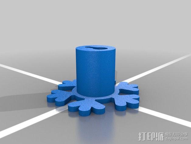 雪花形珠宝架 3D模型  图2