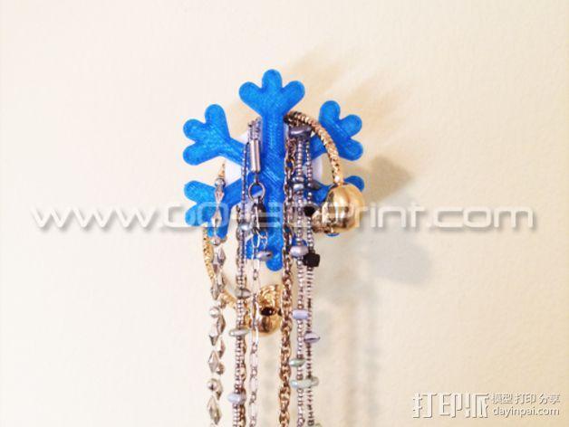 雪花形珠宝架 3D模型  图1