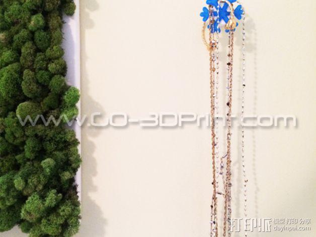 雪花形珠宝架 3D模型  图4