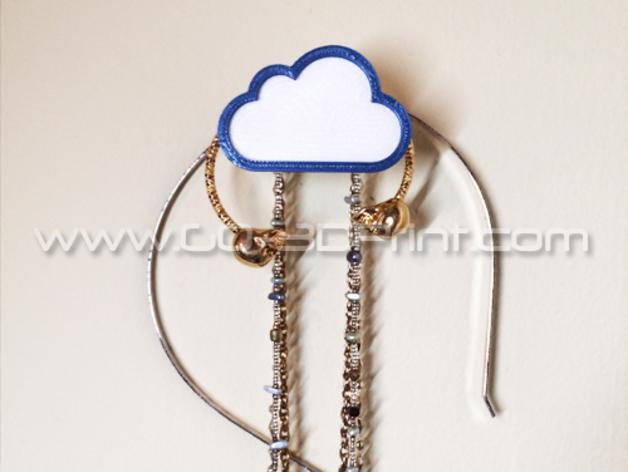 白云形珠宝架 3D模型  图1