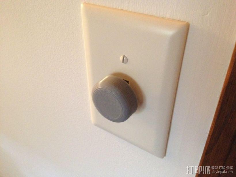 灯开关遮光按钮 3D模型  图1