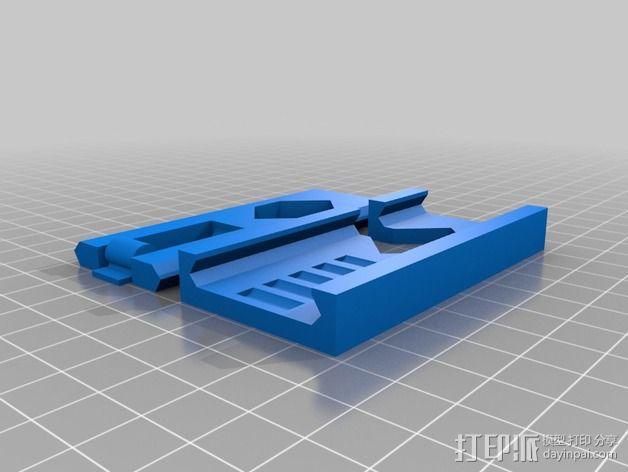食物包装袋封口夹 3D模型  图2