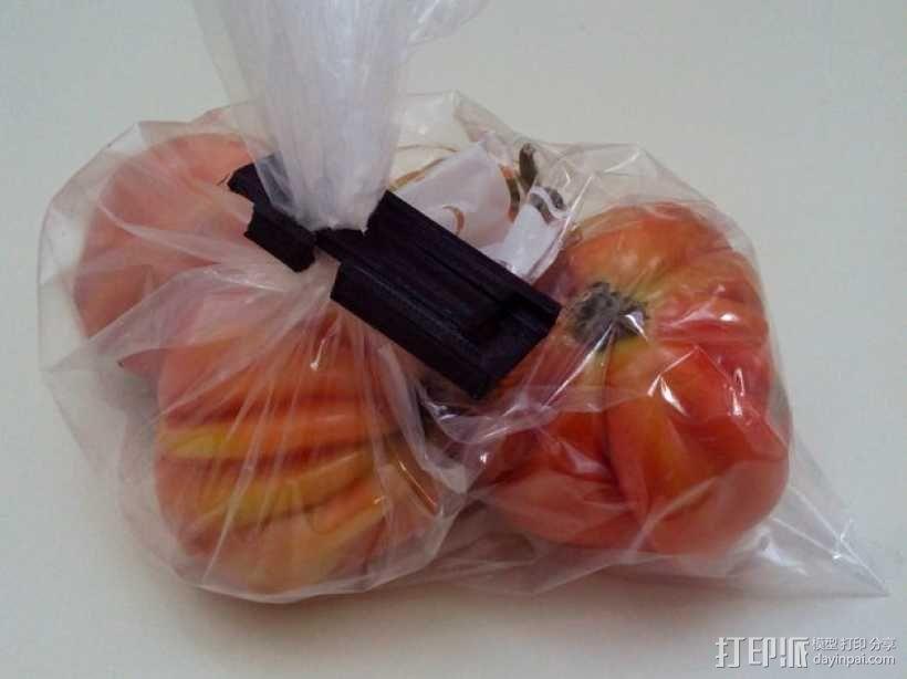食物包装袋封口夹 3D模型  图1