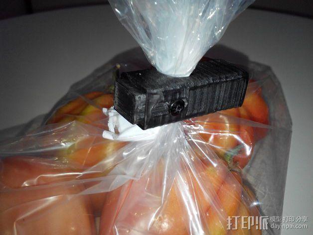 食物包装袋封口夹 3D模型  图4
