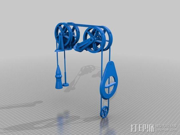 迷你雨水测量指示器 3D模型  图1