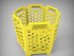 六边形镂空容器 3D模型