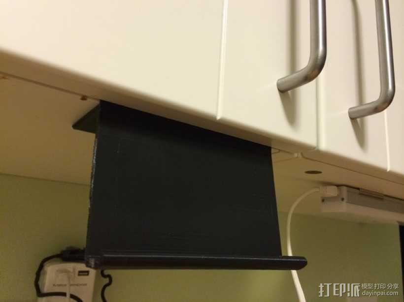 宜家厨房橱柜手机架 3D模型  图1