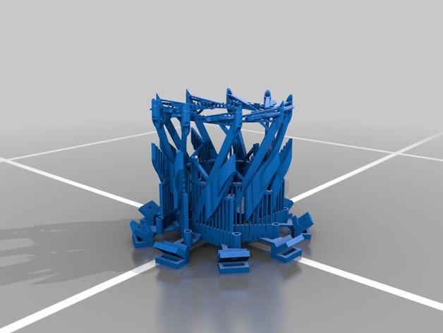多边形灯罩 3D模型  图2