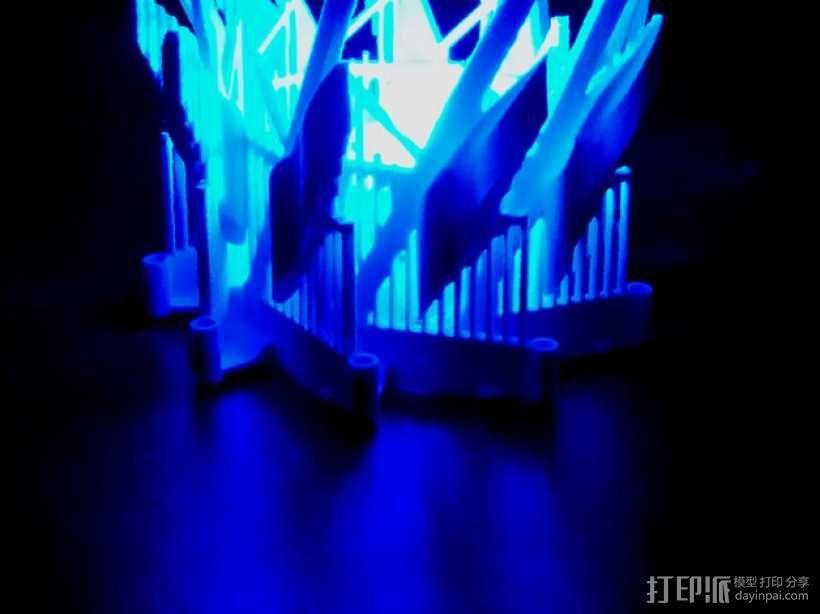 多边形灯罩 3D模型  图1