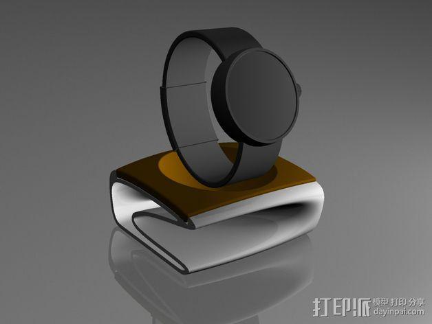 迷你小饰品底座 3D模型  图1