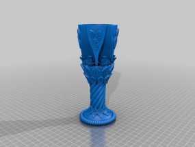 玫瑰酒杯 3D模型