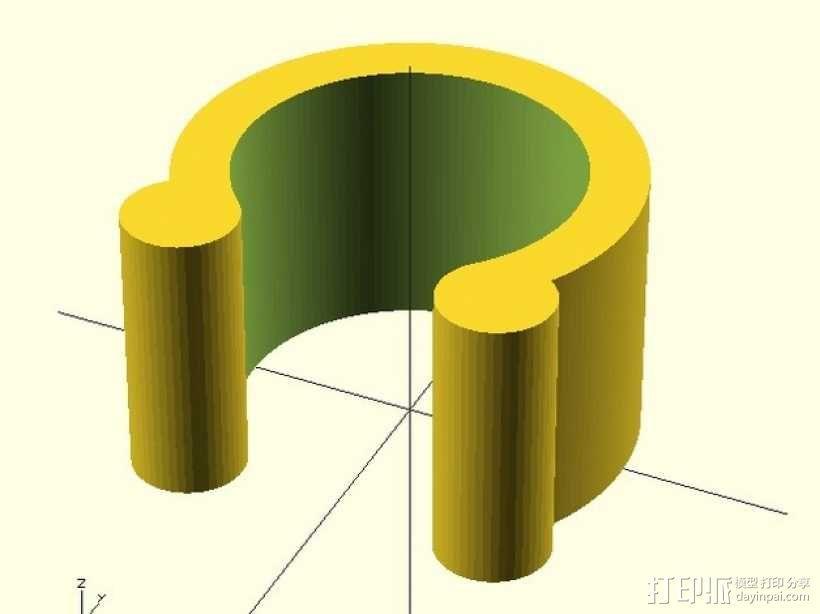 定制化U形夹 3D模型  图1