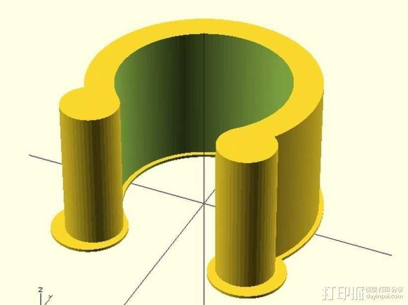 定制化U形夹 3D模型  图4