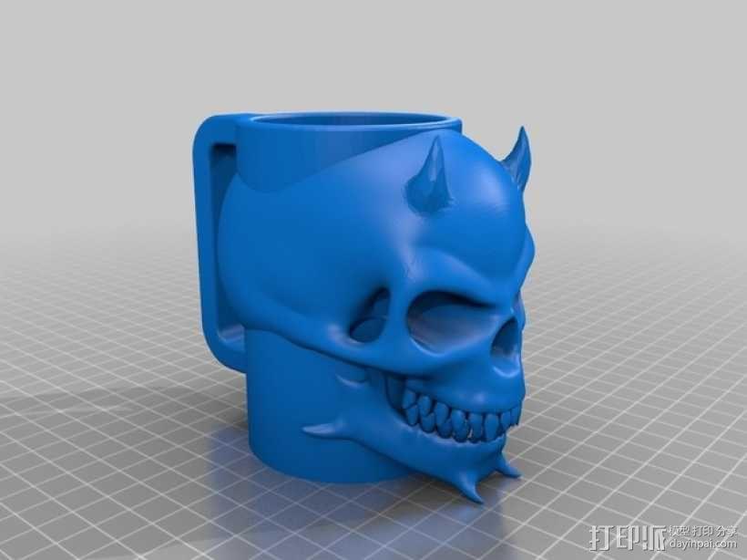 骷髅头马克杯 3D模型  图2