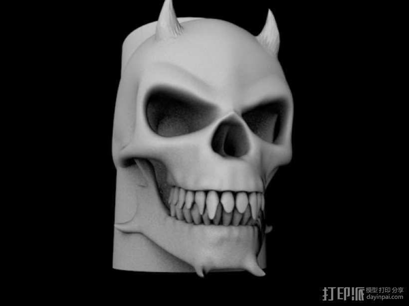 骷髅头马克杯 3D模型  图1