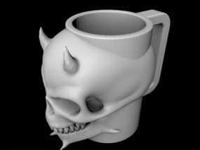 骷髅头马克杯 3D模型