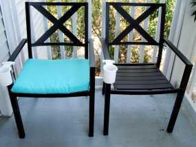 休闲椅杯架 3D模型