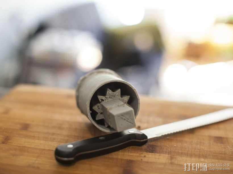 简易咖啡豆捣碎机 3D模型  图1