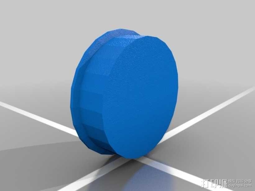 健身平衡板底座 3D模型  图2