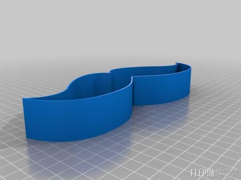 胡须形零食盒 3D模型  图2