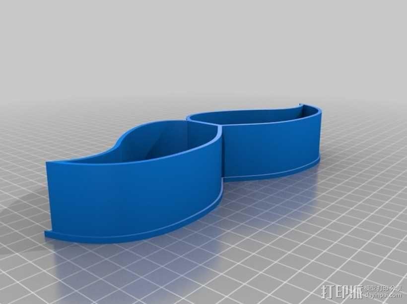 胡须形零食盒 3D模型  图3