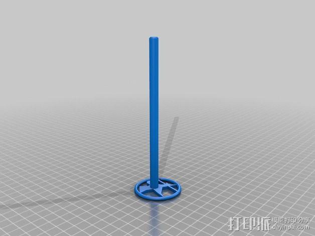 圆形空心笔壳 3D模型  图3