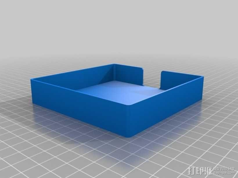 迷你杯垫收纳盒 3D模型  图3