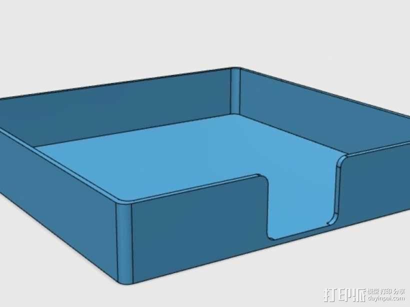 迷你杯垫收纳盒 3D模型  图1