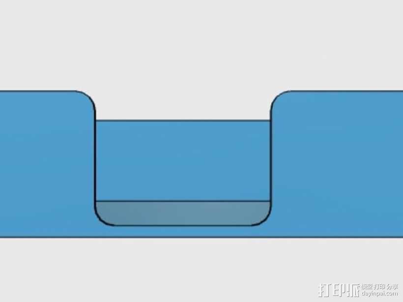迷你杯垫收纳盒 3D模型  图4