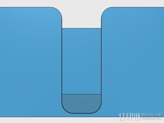 方形杯垫收纳盒 3D模型  图4